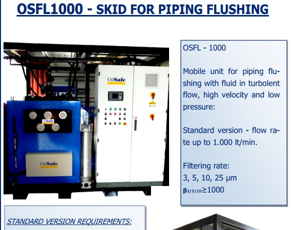Skid For Piping Flushing